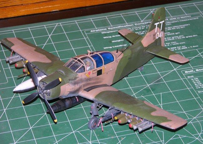 1 48 Tamiya A 1e Douglas Skyraider By Jim Birchfield