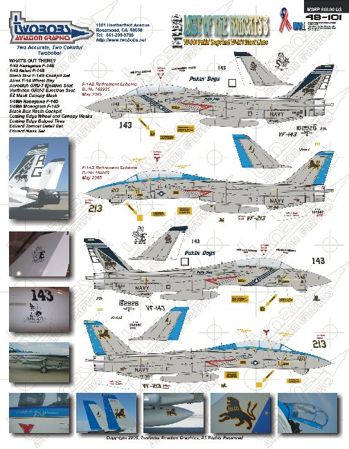 213 Best Images About Arcanos Menores Del Tarot Oros On: Two Bobs 1/48 F-14B/D VF-143/213 Last Of The Tomcats 3