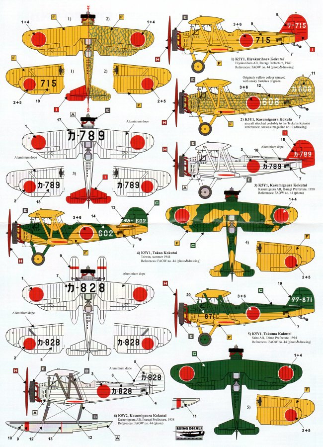 rising decals 1  72 japanese aircraft of training units