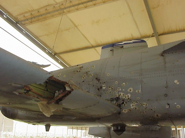 Gulf War 2 Battle Damaged A-10
