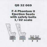 Quickboost QB32 069 F-4 ejection seats with seatbelts in 1:32